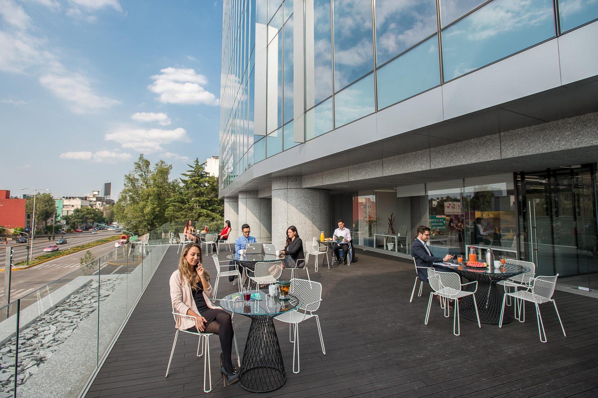 Espacio terraza en IOS Office.