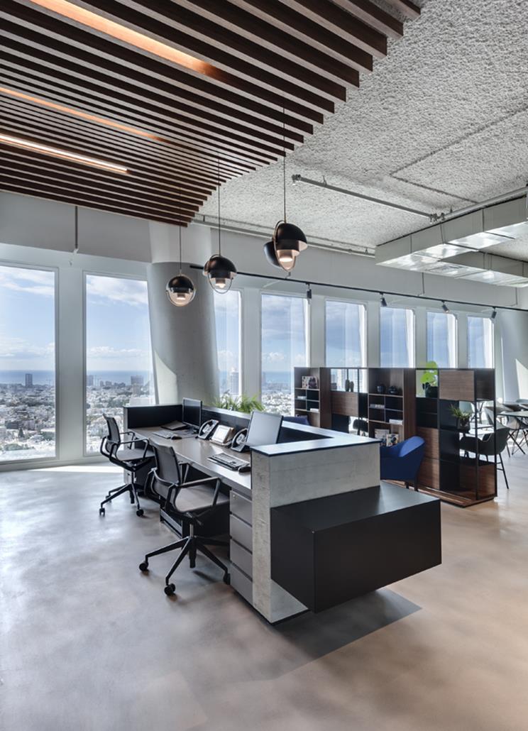 Oficina en el REGUS SARONA de Tel Aviv.