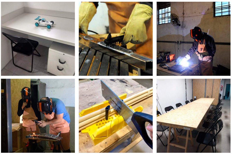Imágenes del coworking-taller Laborando en Buenos Aires.